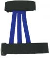 WYANDOTTE LEATHER INC  Adult Web Armguard Blue