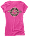 CLUB RED Ladies Duck Dynasty S/S Fitted Tshirt Family Call Pink Large