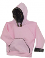 BONNIE & CHILDRENS SPORTSWEAR Hooded Pink Sweatshirt Mossy Oak Breakup Trim 4-5