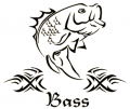 WESTERN RECREATION IND Bass Decal 5x6